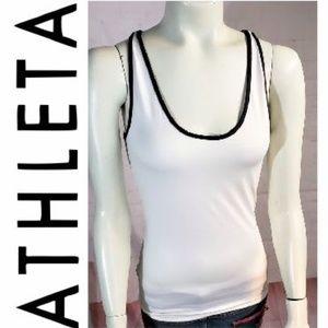 ATHLETA WHITE DEREK LAM IOC TANK XS